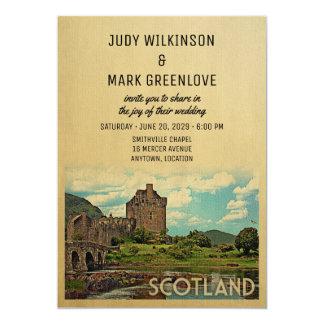 Schottland-Hochzeits-Einladung Eilean Donan Karte