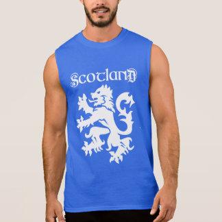 Schottland-Löwe-zügellose Uncial Art Ärmelloses Shirt