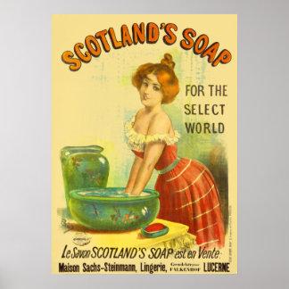 Schottland-Seifen-Vintage Anzeige Poster