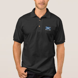 Schottland-Text + Schmutzscottish-Flagge Polo Shirt