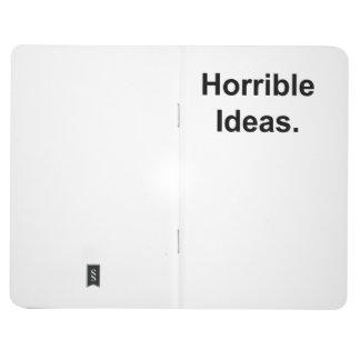 Schreckliche Ideen (Schwarzes auf Weiß) Taschennotizbuch