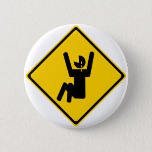 Schrei-Baby-Verkehrsschild Runder Button 5,7 Cm