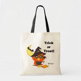 Schrei-Eulen-Halloweentrick oder -Leckerei Tragetasche