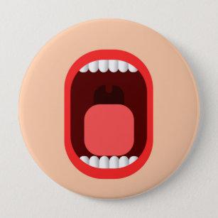 Schrei Runder Button 10,2 Cm