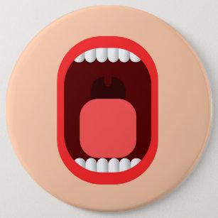 Schrei Runder Button 15,3 Cm