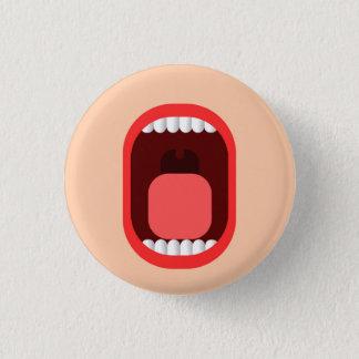 Schrei Runder Button 3,2 Cm