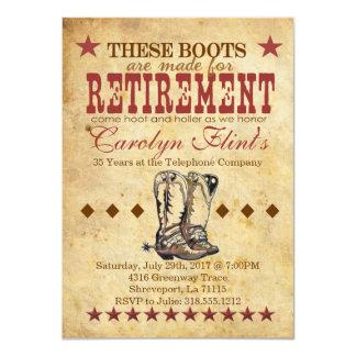 Schrei-u. Holler-Ruhestands-Einladung 11,4 X 15,9 Cm Einladungskarte