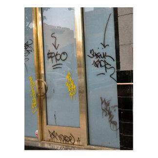 Schreiben auf die Tür Postkarten