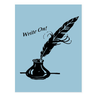 Schreiben Sie an! Spulen-Tinte für Verfasser Postkarte