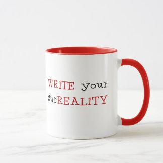SCHREIBEN Sie Ihr surREALITY - Tasse