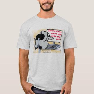 Schreiben Sie Ihre eigene Mitteilung auf das Shirt