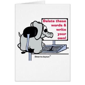 Schreiben Sie Ihre eigene Mitteilung GRUSS-KARTE Karte