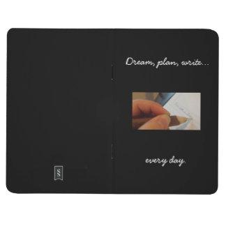 Schreiben Sie jeden Tageszeitschrift, schwarz Taschennotizbuch