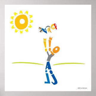 Schreiben Sie Vati-Druck - den glücklichen Vaterta Poster