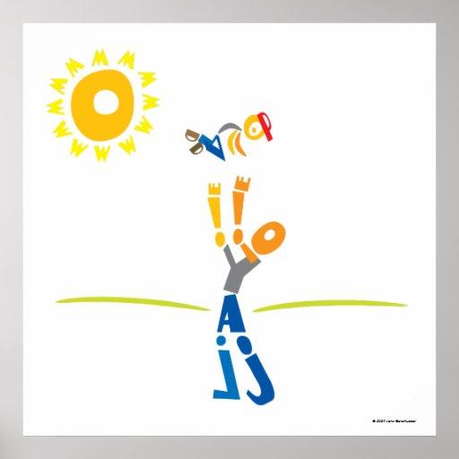 Schreiben Sie Vati-Druck - den glücklichen Vaterta Plakatdruck