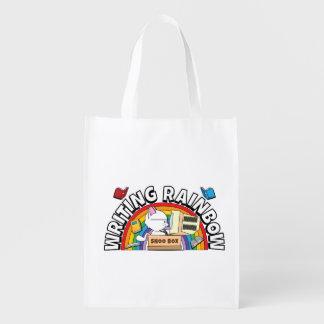 Schreibens-Regenbogen-wiederverwendbare Tasche Wiederverwendbare Tragetasche