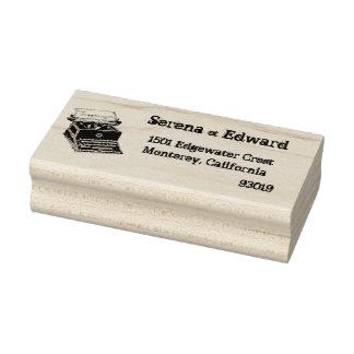 Schreibmaschinen-Adressen-Briefmarke Gummistempel