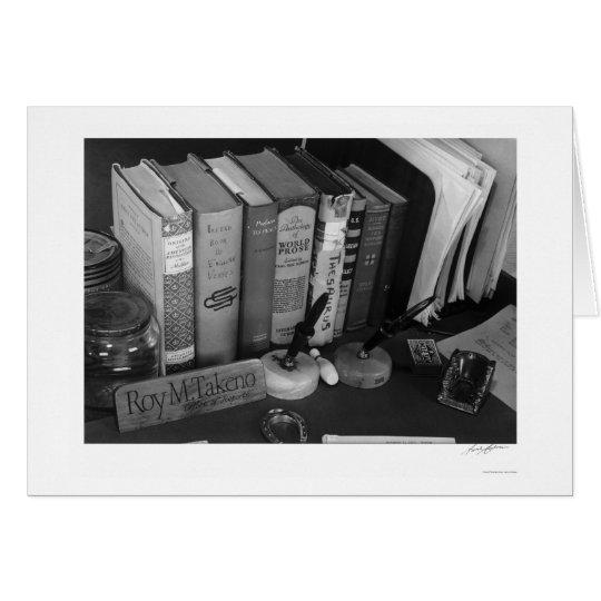Schreibtisch 1943 Roy Takenos Grußkarte