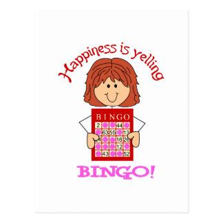 Schreien von Bingo Postkarte