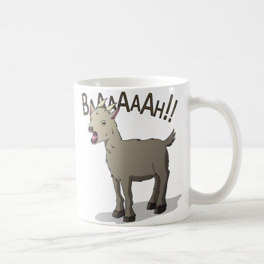 Schreiende Ziegen-Gekritzel-Nudel-Entwürfe Kaffeetasse