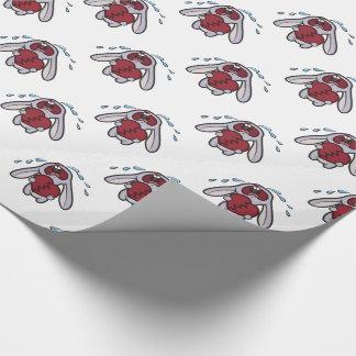 Schreiendes Häschen mit defektes Herz-Muster Geschenkpapier