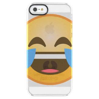 Schreiendes lachendes Emoji Durchsichtige iPhone SE/5/5s Hülle