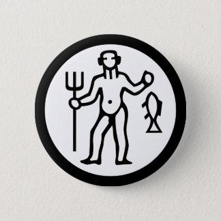 Schriftart-Tierkreis: WASSERMANN + Ihre Farben u. Runder Button 5,7 Cm