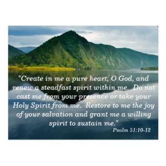 Schrifts-codierte Karte des Psalm-51 10 - 12