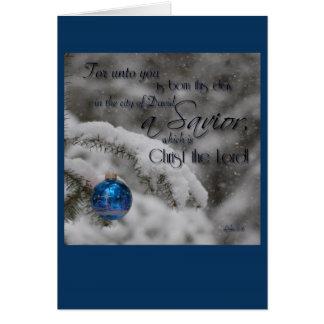 Schrifts-Weihnachtskarte Karte