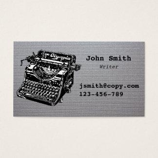 Schriftstellerschreibmaschinenentwurf stilvoll visitenkarte