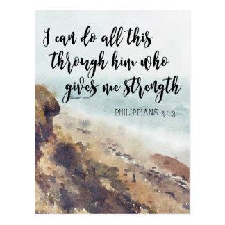 Schriftszitat notecard Philippians Postkarte