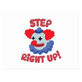 Schritt-Clown Postkarte