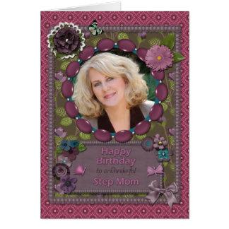 Schritt-Mamma, Fotokarte für einen Geburtstag Karte