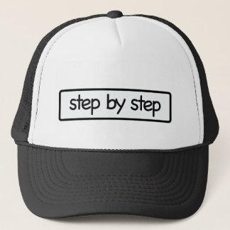 Schritte Truckerkappe