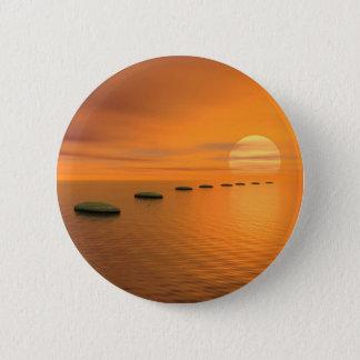 Schritte zur Sonne Runder Button 5,1 Cm