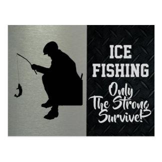 Schroffe Eis-Fischen-Postkarte Postkarte