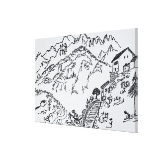 Schroffes Val d'Asco | Korsika, Frankreich Leinwanddruck