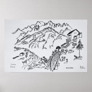 Schroffes Val d'Asco | Korsika, Frankreich Poster