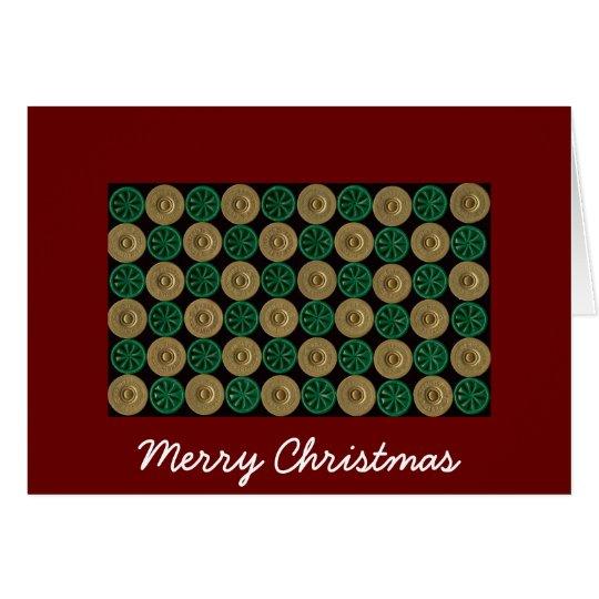 Schrotflinte-Muschel Weihnachtskarte Grußkarte