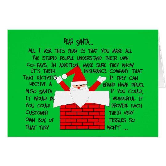 Schrullige und lustige Apotheker-Weihnachtskarten Grußkarte