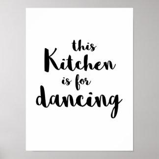 Schrulliger Spaß diese Küche ist für tanzende Poster