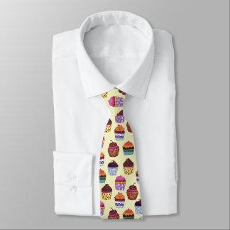 Schrulliges buntes Kuchen-Illustrations-Muster Krawatte
