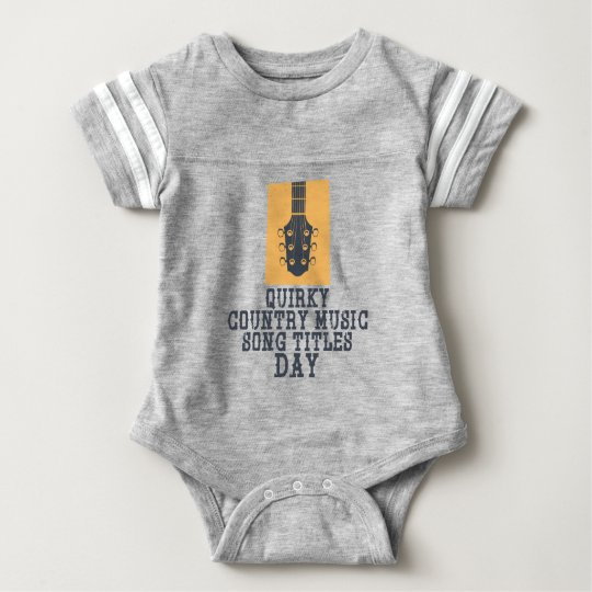 Schrulliges Countrymusik-Lied betitelt Tag Baby Strampler