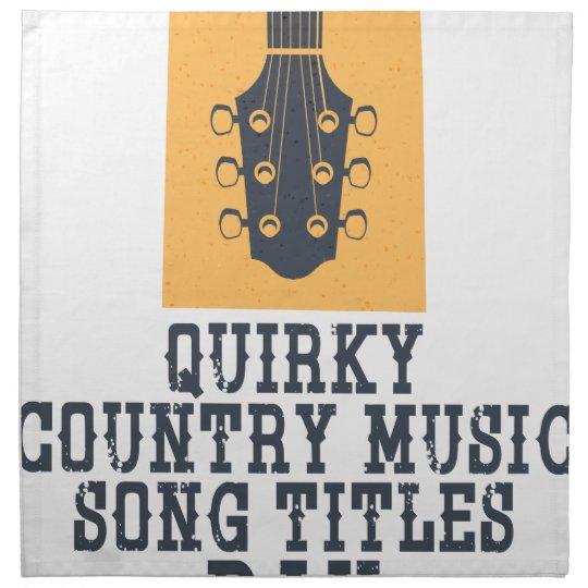 Schrulliges Countrymusik-Lied betitelt Tag Bedruckte Servietten