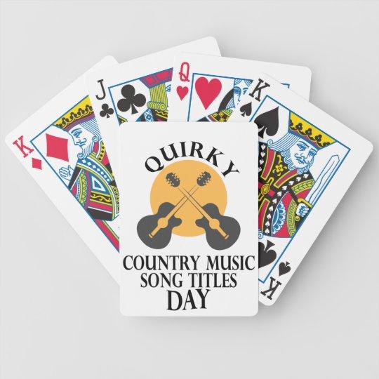 Schrulliges Countrymusik-Lied betitelt Tag Bicycle Spielkarten