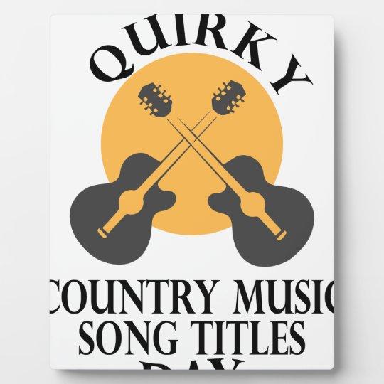 Schrulliges Countrymusik-Lied betitelt Tag Fotoplatte