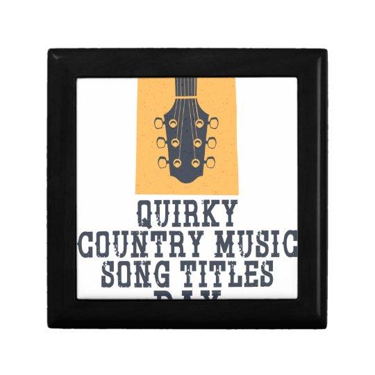 Schrulliges Countrymusik-Lied betitelt Tag Kleine Quadratische Schatulle