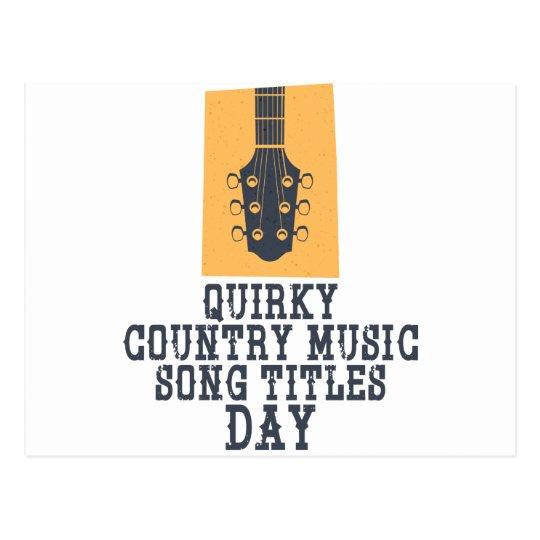 Schrulliges Countrymusik-Lied betitelt Tag Postkarte