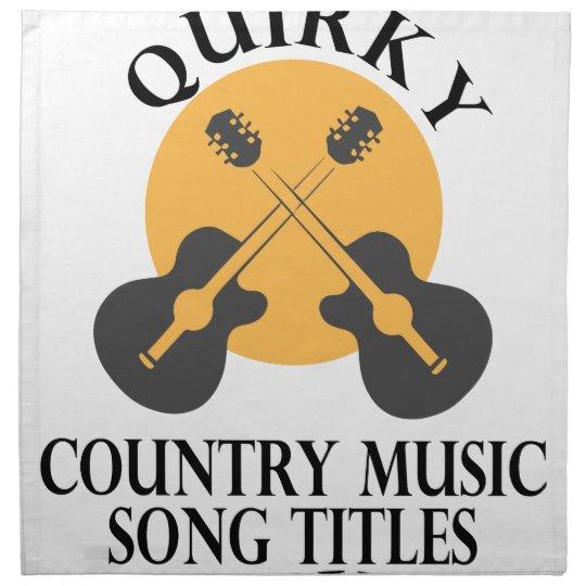 Schrulliges Countrymusik-Lied betitelt Tag Serviette