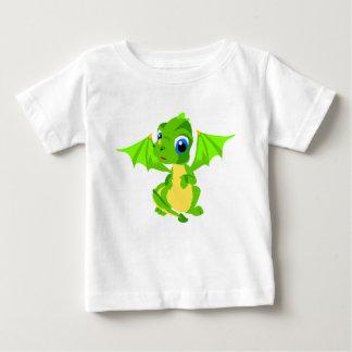 Schüchternes Baby-grüner Drache Baby T-shirt
